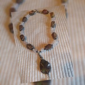 Vintage Gemstone and Bead necklace
